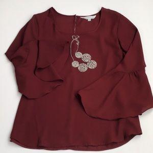 Bell Sleeve Blouse - Petite